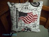 Cuscino decorativo con bandiera americana