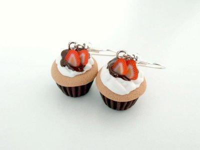 Orecchini cupcake in Fimo 3