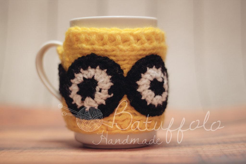 Copri tazza mug - ispirato a Minion; BatuffoloHandmade