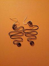 Orecchini filo di alluminio wire
