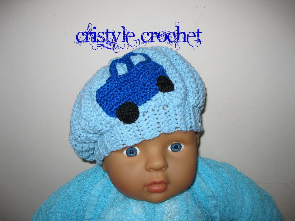 Cappello Berretto Per Bambino Neonato Fatto A Mano Con Luncinetto