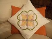 cuscino patchwork colpi di luce
