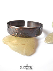 Bangle in Rame - Fiori Incisi