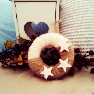 ghirlanda in lana
