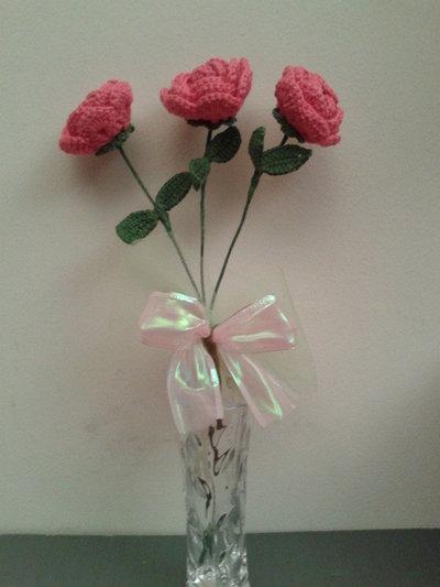 Bouquet Rose uncinetto