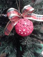 Palla di Natale ad uncinetto