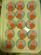 Biscotti decorati con ghiaccia reale Peppa Pig