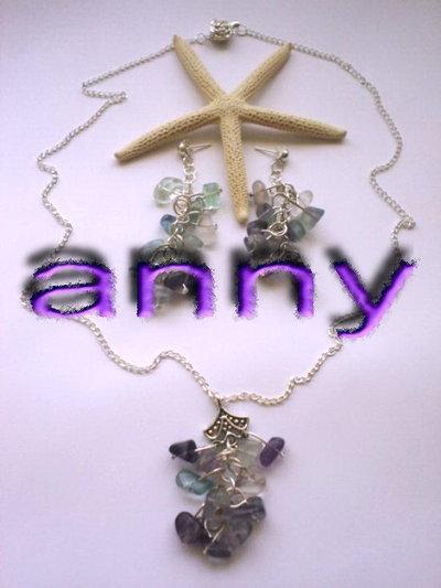 collana e orecchini ONDE MARINE