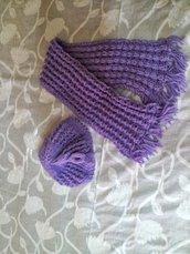 Set cappellino e sciarpa lana