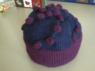 "Cappello in lana merino ""bolle"""
