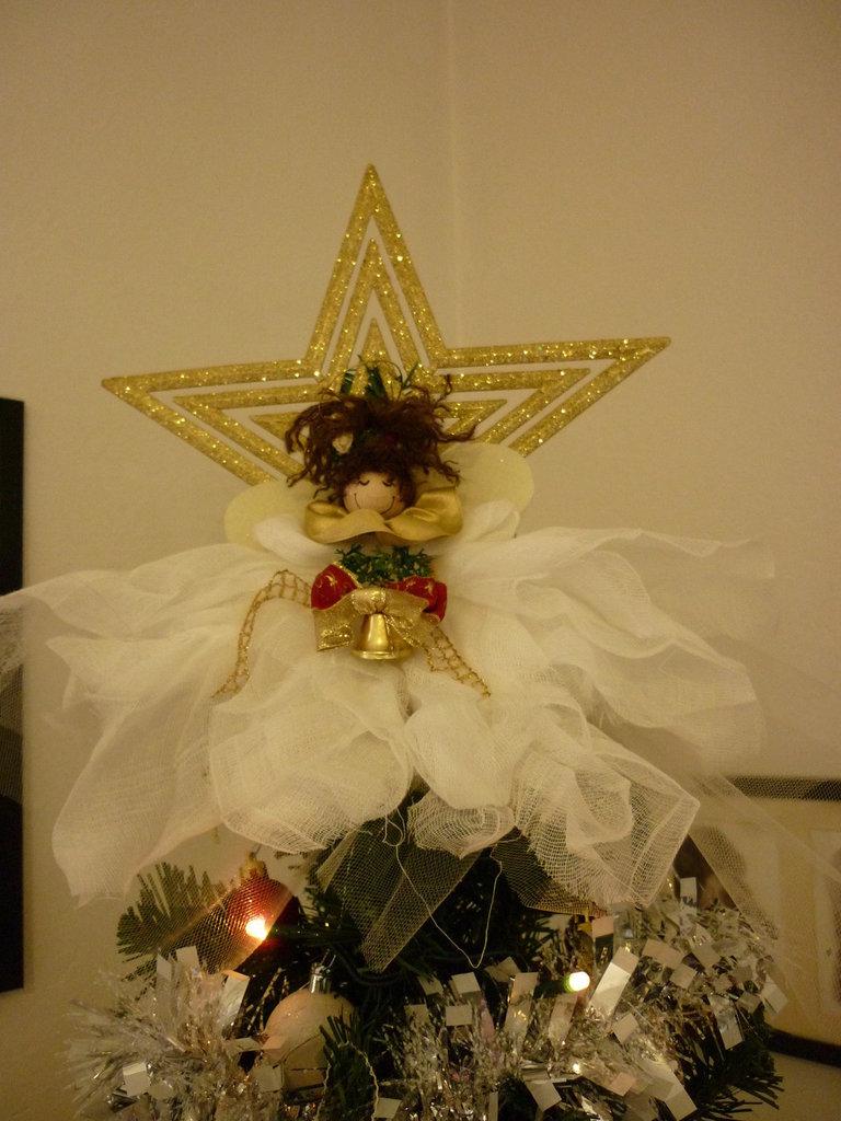 Puntale per albero di Natale con angioletto