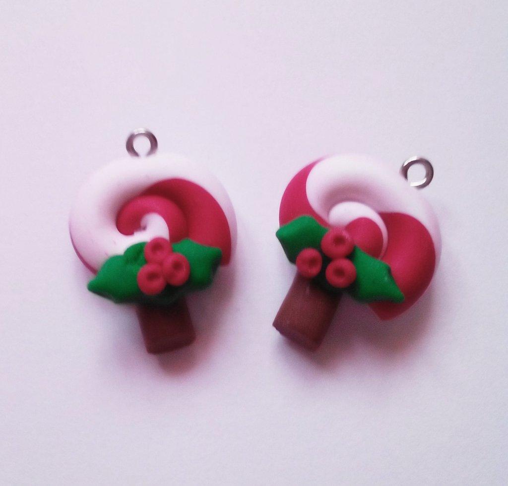 1 lollipop natalizio in fimo