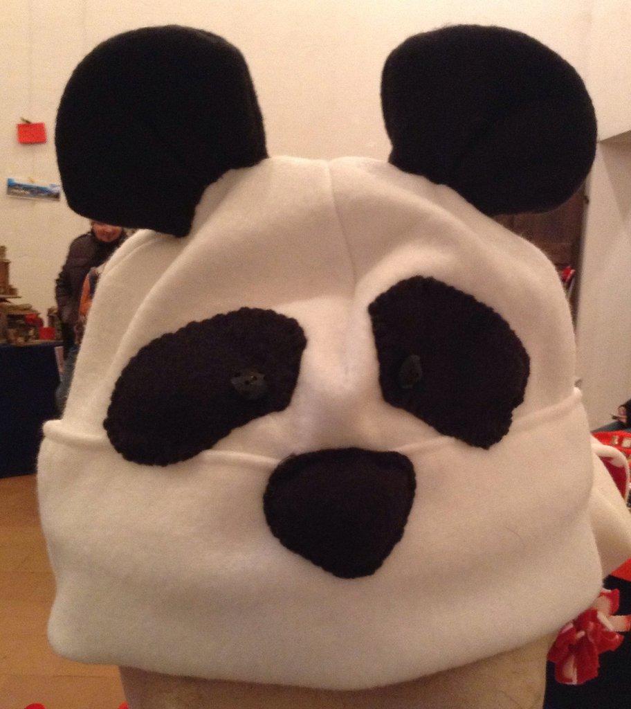 Cuffia Panda, in caldissimo pile