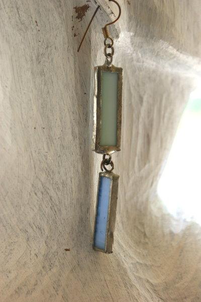 orecchino Singolo in vetro