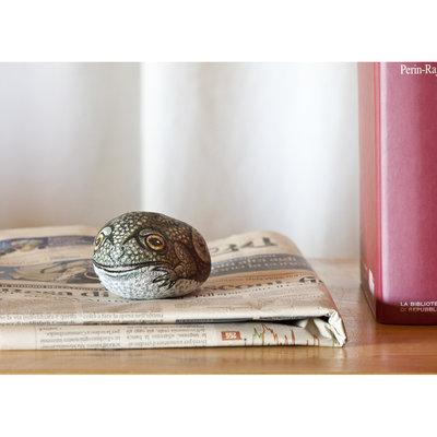 Dipinto su pietra - ROSPO - Opera d'arte - Idea regalo - oggetto da collezione