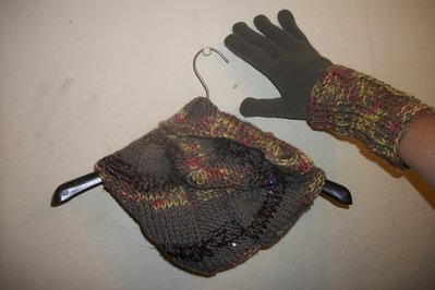 parure scaldacollo e guanti in morbida lana