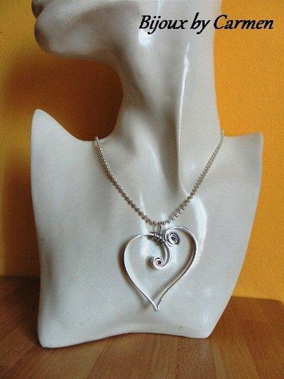 girocollo con cuore wire