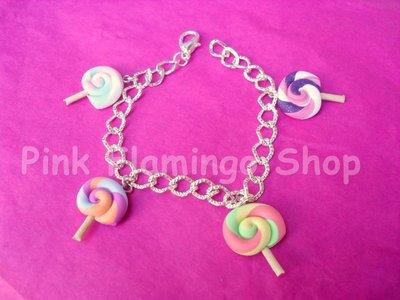 Bracciale lollipop in Fimo - lecca lecca