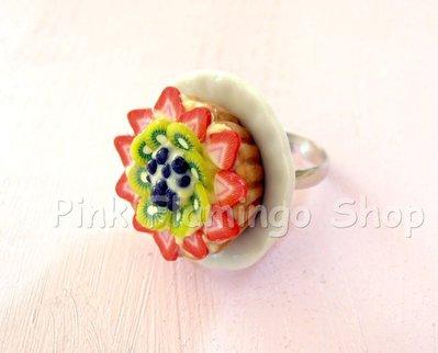 Anello crostata alla frutta in Fimo