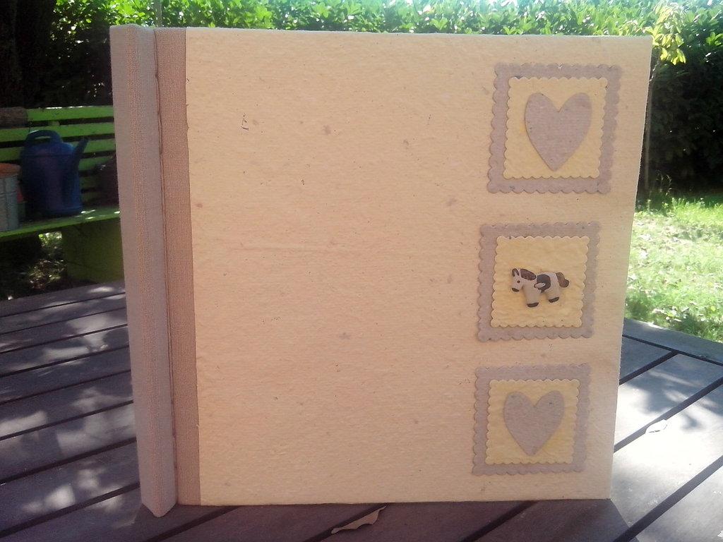 album in carta riciclata