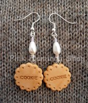 Cookie orecchini in Fimo