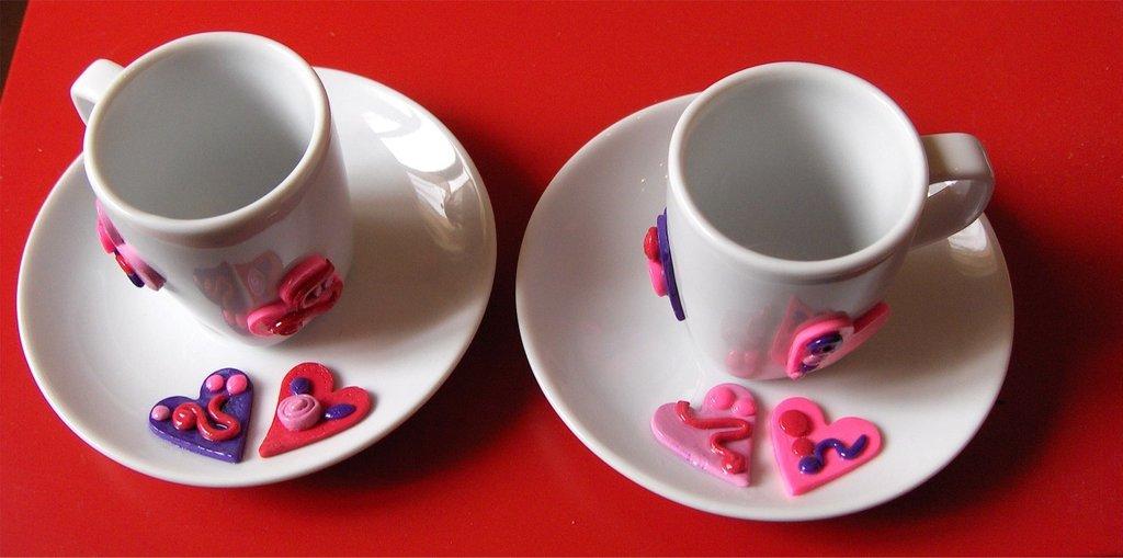 Tazzine da caffè cuoricini