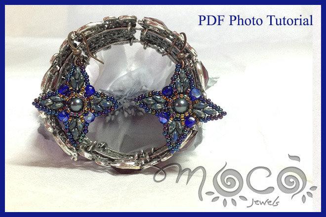 Pdf pattern,photo tutorial,diy,earrings