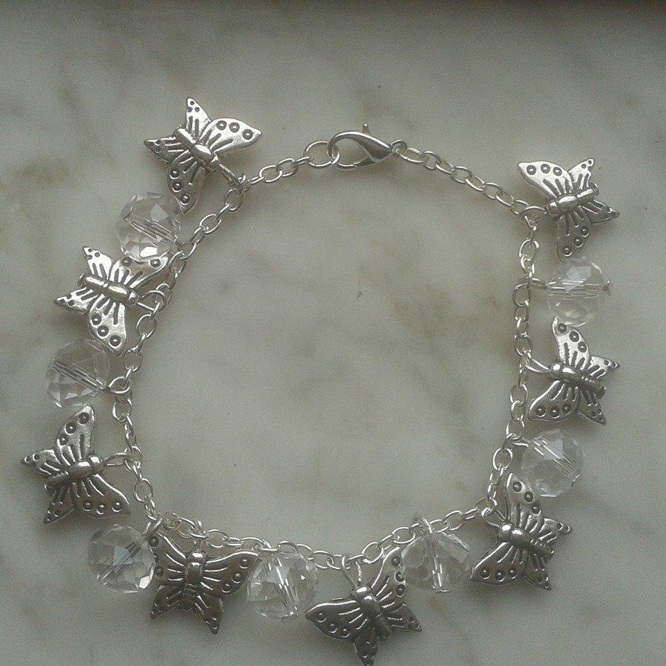 Bracciale farfalle perle