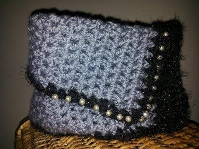 Scaldacollo di lana all'uncinetto