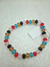 Bracciale elasticizzato multicolor