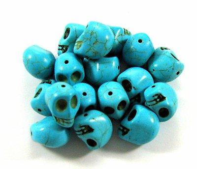 5 Teschi grandi in aulite sintetica azzurro