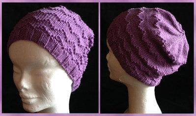 Cappello cuffia comoda - lilla