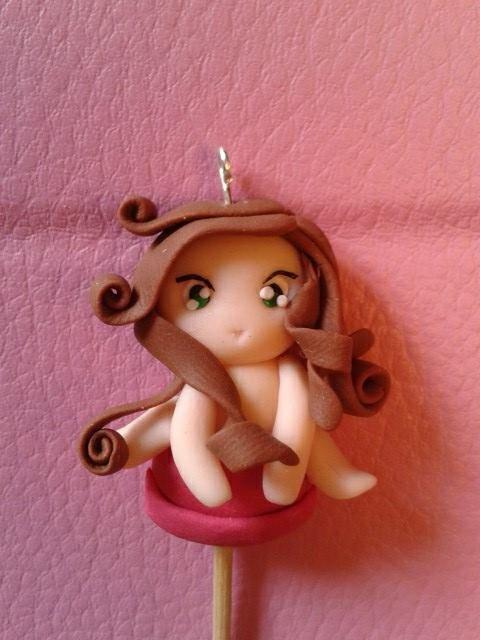 Ciondolo bambolina su lollipop