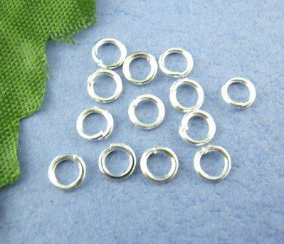 50 anellini apribili 6 mm tono argentato senza nikel