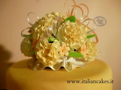 Topper floreale in pasta di zucchero