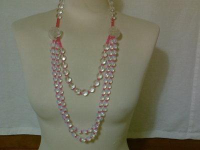collana perle peonia