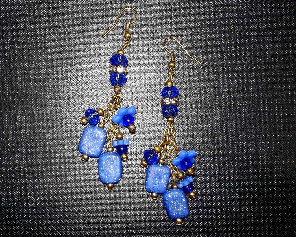Orecchini Blu Notte