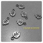 charms a forma di foglia argento