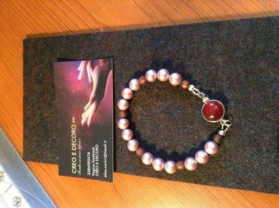 Bracciale donna perle rosa