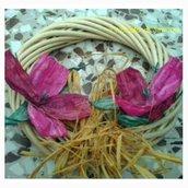 ghirlanda con fiori di pirkka rosa