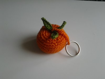 portachiavi mandarino amigurumi
