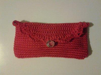 pochette rossa uncinetto