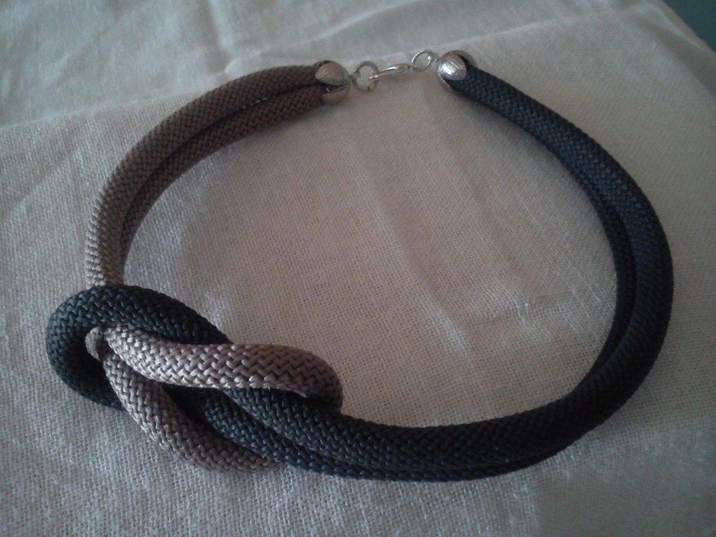collana Intreccio grigio - tortora