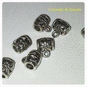tubetto con anellino colore argento anticato