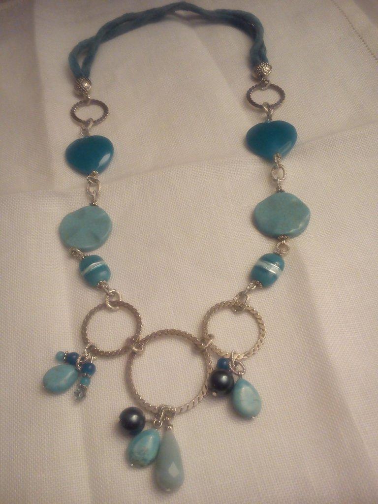 Collana in pietre dure gioielli collane di monili per passione su misshobby - Collane di design ...