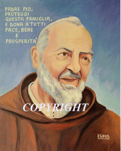 Padre Pio originale su tela 50x60