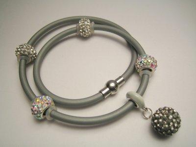 """""""Metallic Pavè"""" - Braccialetto con perline strass"""