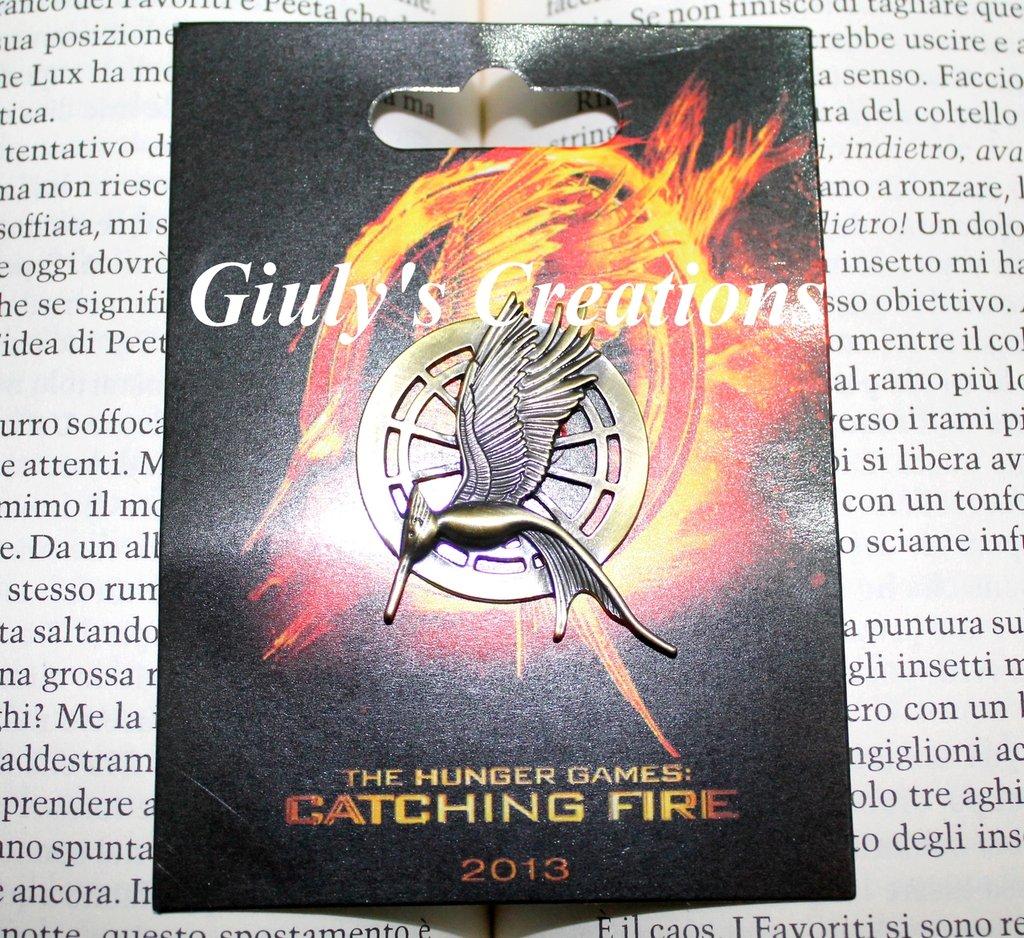 Spilla La Ghiandaia Imitatrice Catching Fire NUOVA VERSIONE 2°Capitolo di The Hunger Games con SCATOLO ORIGINALE DEL FILM!!