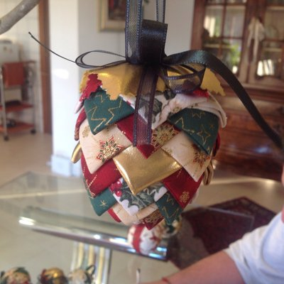 decorazioni natalizie in patchwork