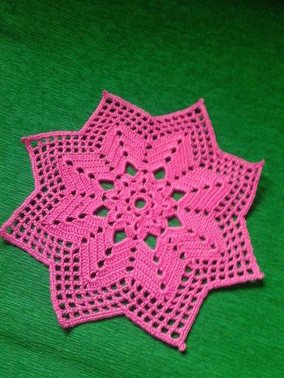 Centrino stella rosa fucsia